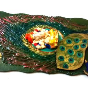Wall hanging (Ganesha with Peacock feather)